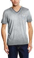 Lerros Men's V-neck Short Sleeve T-Shirt - grey -