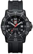 Luminox Authorized for Navy Use (A.N.U.) Men's Quartz watch with Black dial featuring LLT light Technology 45 millimeters Stainless Steel case and Black PU Strap XS.4221.NV