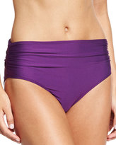 Luxe by Lisa Vogel Ruched-Side Hipster Swim Bottom