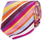 Thomas Nash Pink Striped Regular Tie