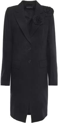 Ann Demeulemeester Floral-appliqued Wool-twill Jacket