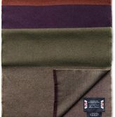 Charles Tyrwhitt Purple striped merino scarf