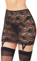 Coquette Plus Size Lace Gartered Skirt- Fits Size 14-20