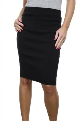 Icecoolfashion Women's Stretch Smart Casual Bodycon Pencil Skirt Ladies Above Knee Special Occasion Slim Fit Office Skirt Black (10)