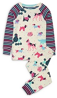 Hatley Girls' Dog Print Cotton Pajamas - Little Kid, Big Kid
