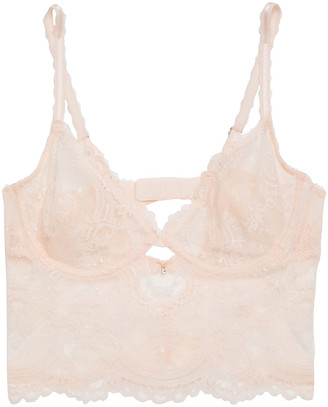 Wacoal Chrystalle Embellished Stretch-lace Soft-cup Underwired Bra