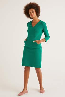 Boden Womens Green Bronte Ottoman Dress - Green