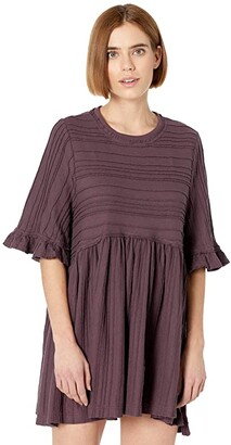 Free People Take A Spin Tunic (Black Honey) Women's Clothing
