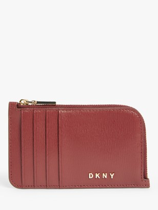 DKNY Bryant Leather Zip Around Card Holder