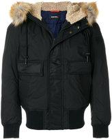 Diesel hooded aviator jacket