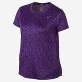 Nike Dry Miler Women's Short Sleeve Running Top (Size 1X-3X)