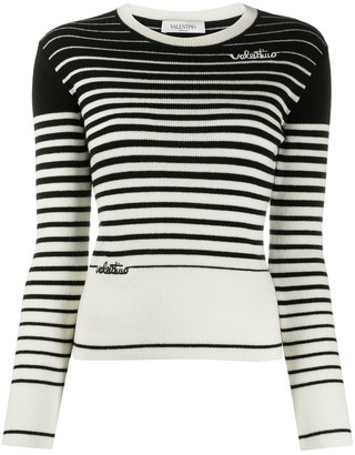 Valentino Signature Logo Knitted Jumper