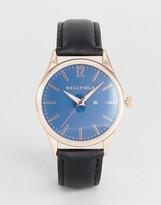 Bellfield Watch With Black Strap And Blue Dial