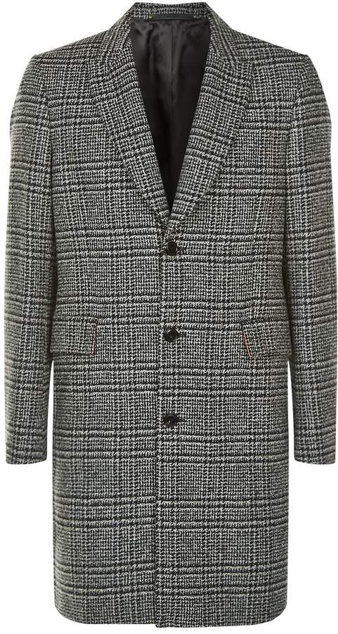 Paul Smith Donegal Check Tweed Overcoat