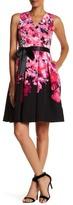 Chetta B Floral Fit & Flare Dress