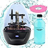 Lilumia 2 Makeup Brush Cleaner Device - MATTE BLACK BUNDLE (includes Lilumia Cleanser and 2 Deep Cleaning Disks)