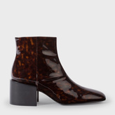 Paul Smith Women's Tortoiseshell Patent Leather 'Rozel' Ankle Boots