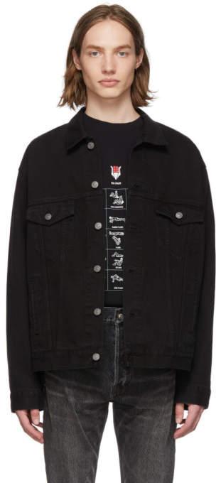 Balenciaga Black Denim Speed Jacket