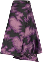 Marques Almeida Marques'almeida tie-dye wrap skirt