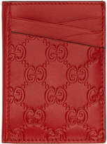 Gucci Red Signature Card Holder