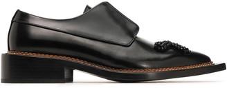 Simone Rocha Bead-embellished Glossed-leather Brogues