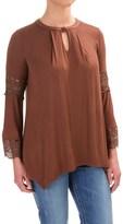 Wrangler Lace-Trimmed Tunic Shirt - Long Sleeve (For Women)