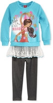 Nannette Disney's Elena 2-Pc. Layered-Look Sweatshirt & Leggings Set, Little Girls (2-6X) & Toddler Girls (2T-5T)