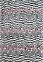 Cornermill Decotex Wool Rug, 988 Black Red 160 x 230cm