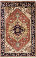 "Ecarpetgallery Hand-knotted Serapi Heritage Copper Wool Rug 4'1""x6'2"""