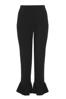 Quiz Black High Waist Frill Hem Trousers