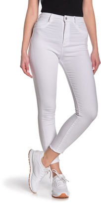 Tractr High Waist Ankle Cropped Skinny Jeans