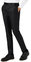 Topman Men's Skinny Fit Liquid Tuxedo Trousers