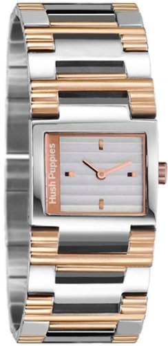 Hush Puppies Women's HP.3540L01.1522 Freestyle Rectangular Stainless Steel Gold Ion-Plated Coated Bracelet Watch