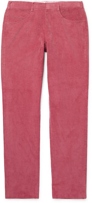 Anderson & Sheppard Slim-Fit Cotton-Corduroy Trousers