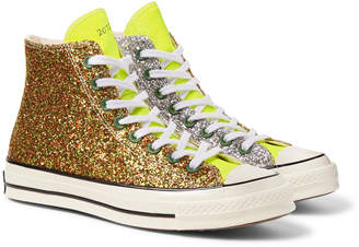 Converse + Jw Anderson 1970s Chuck Taylor All Star Glittered Canvas High-Top Sneakers