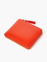 Comme Des Garcons Wallet Orange Classic Leather Zip Wallet