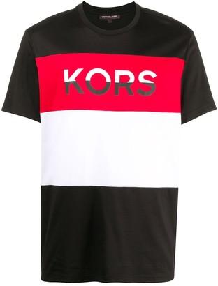 Michael Kors colour-block cotton T-shirt