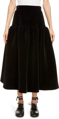 Sara Lanzi Velvet Midi Skirt