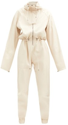 Dodo Bar Or Piki Tapered-leg Leather Jumpsuit - Cream