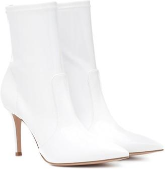 Gianvito Rossi Imogen vinyl ankle boots
