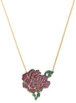 Effy Diamond, Emerald & Ruby Necklace