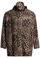 Leopard Hooded Windbreaker
