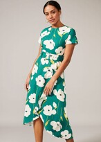 Thumbnail for your product : Phase Eight Lou-Poppy Frill Midi Dress