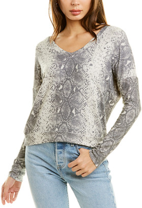 Wildfox Couture Daphne Python Pullover
