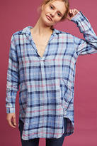 Cp Shades Plaid Linen Tunic