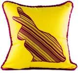 Cotton cushion cover, 'Yellow Rabbit'