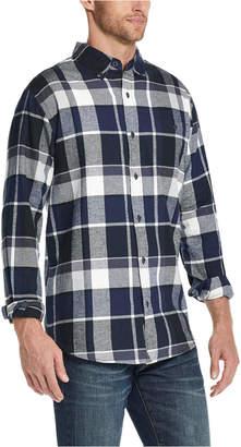 Weatherproof Vintage Men Exploded Flannel Plaid Shirt
