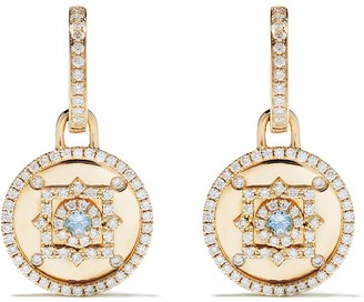Kiki McDonough 18kt yellow gold Jemima blue topaz and diamond detail detachable earrings