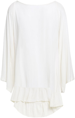 SUNDRESS Fiorella Pompom-embellished Woven Beach Dress