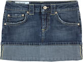 Dondup Short stone-washed denim skirt